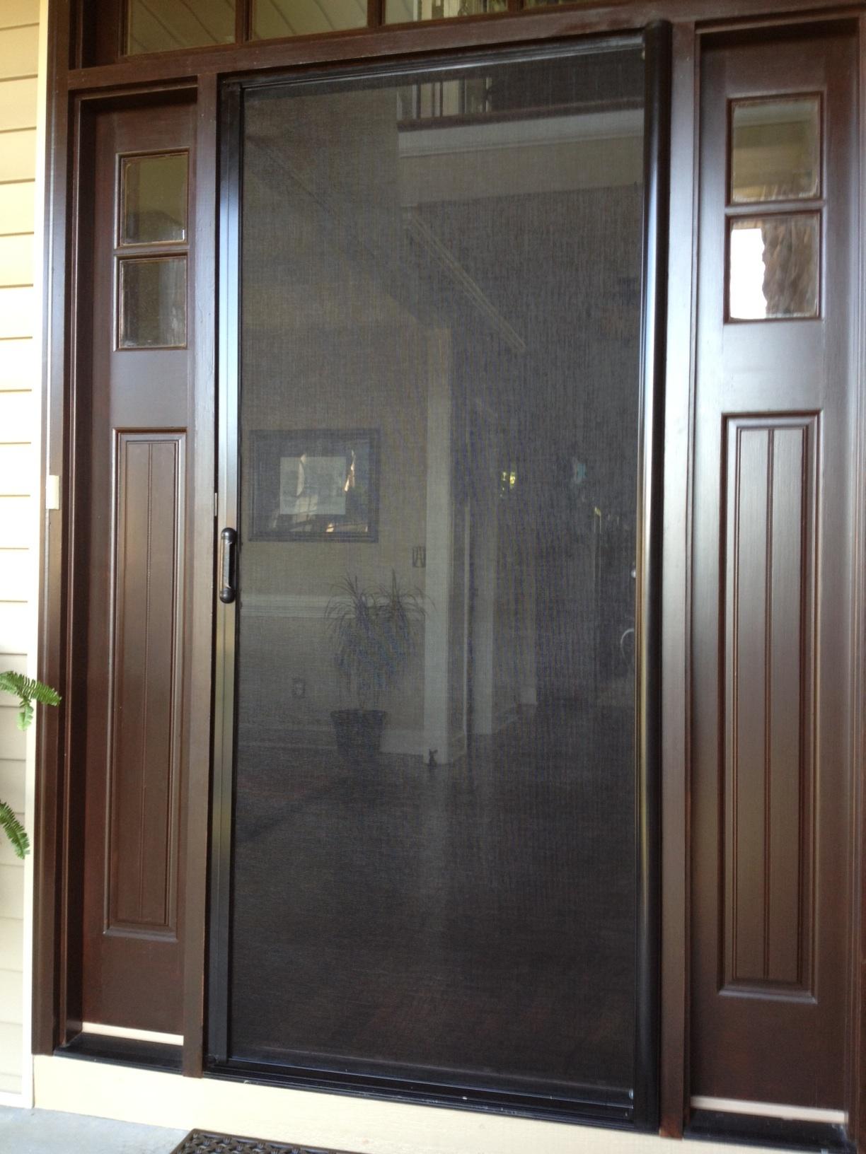 Greer Craftsman Style Door Frame Retractable In Use