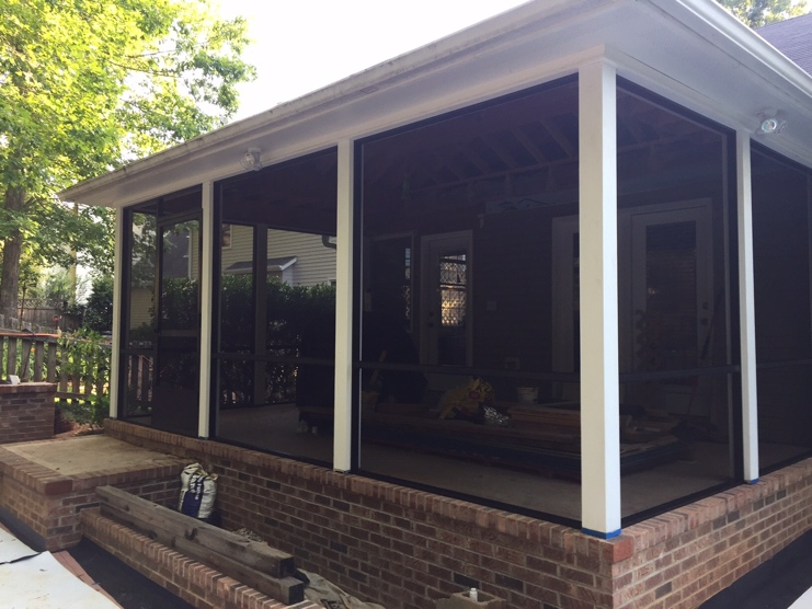 Palmetto Outdoor Spaces Installed Bettervue Screen Mesh On