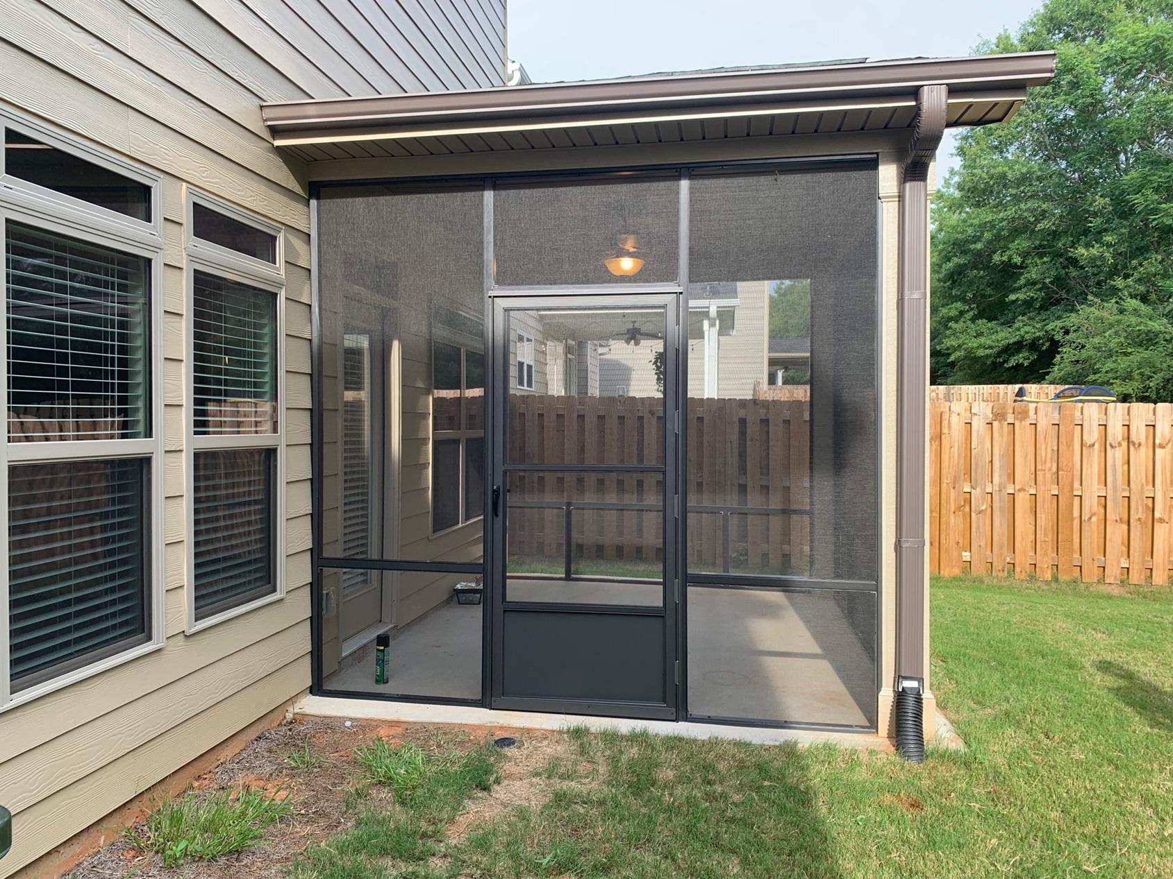 Duncan Sc Bronze Porch Screened 5 Hinge Screen Door